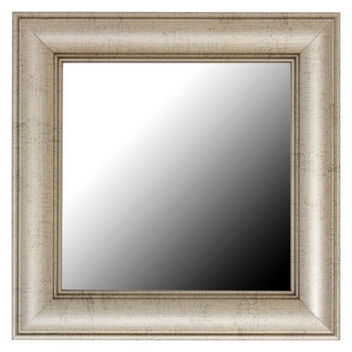 Pemaquid Slim Old World Silver Framed Mirror