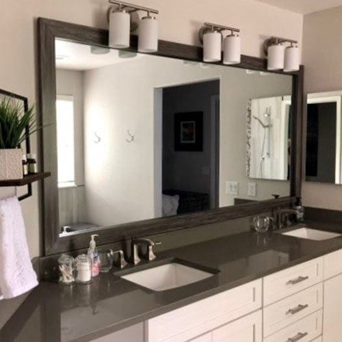 Driftwood Bathroom Wall Mirror Frames