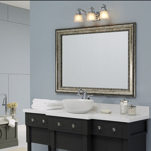 Grandezza Aged Silver Wall Mirror Framing