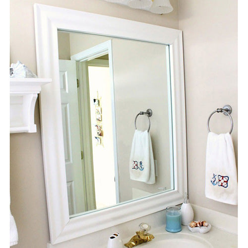 Pacifica White DIY Mirror Framing Kits