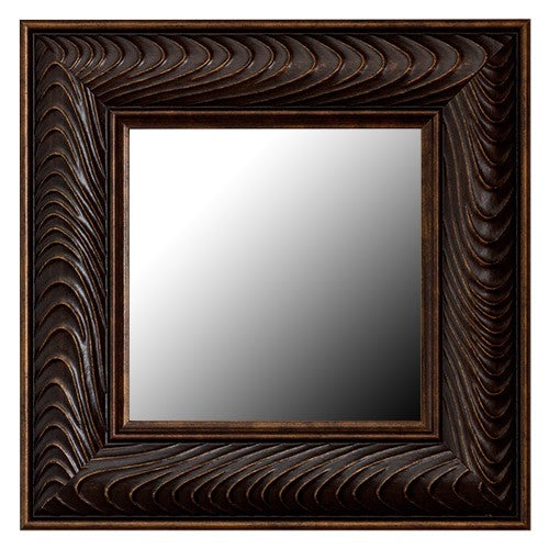 Venetian Bronze Wave Framed Mirror