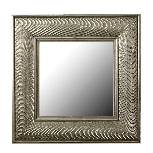 Venetian Silver Wave Framed Mirror