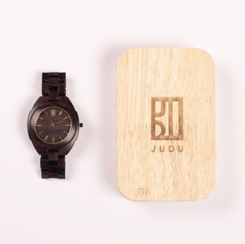 Rosewood and Gold Watch
