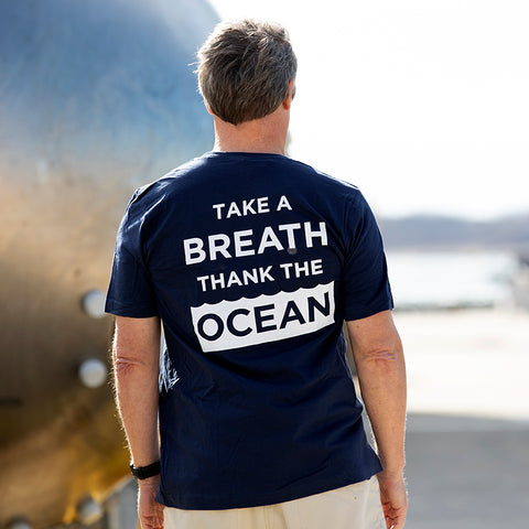 T-Shirt Take A Breath-Navy