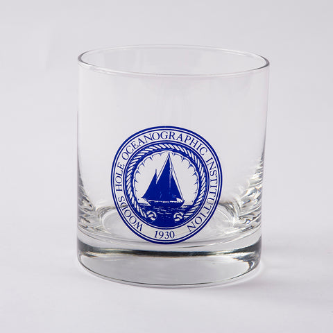 Rock Glass 14oz WHOI Logo