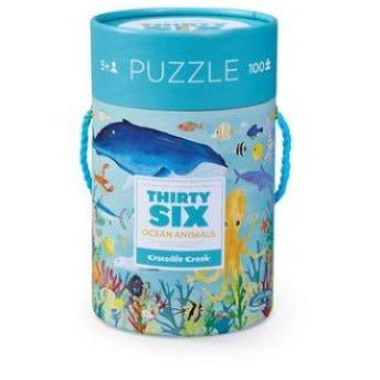 36 Ocean Animals, 100 piece puzzle