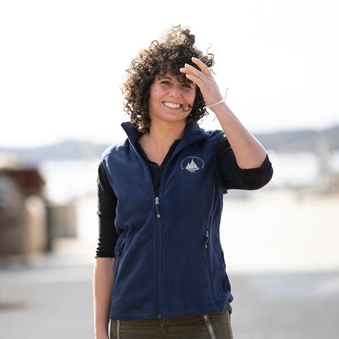 Women's Fleece Vest with Logo
