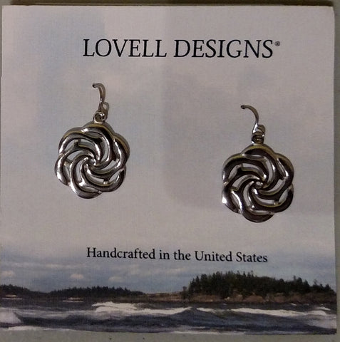 Sea Rose Pewter Earrings