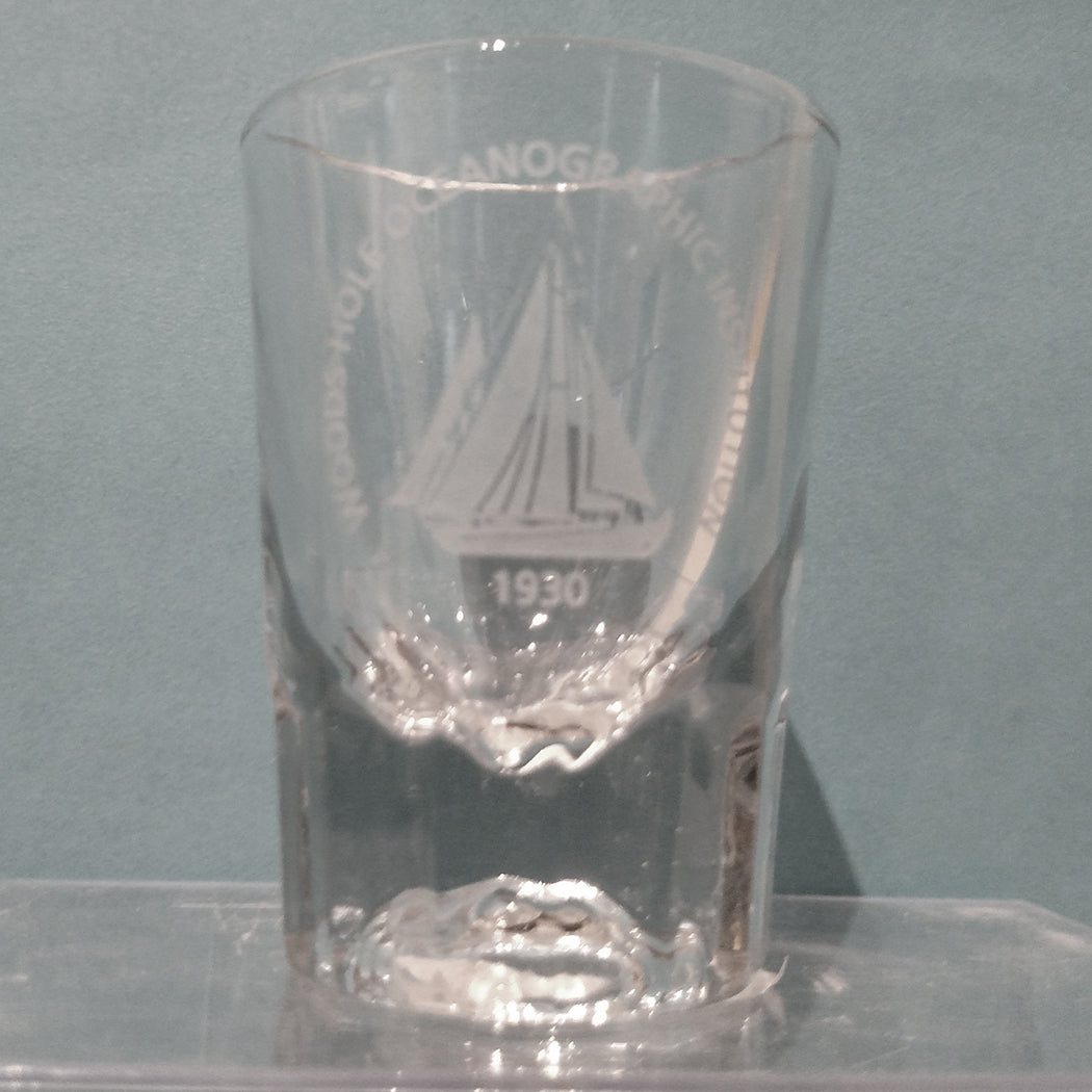 Shot Glass with WHOI Logo
