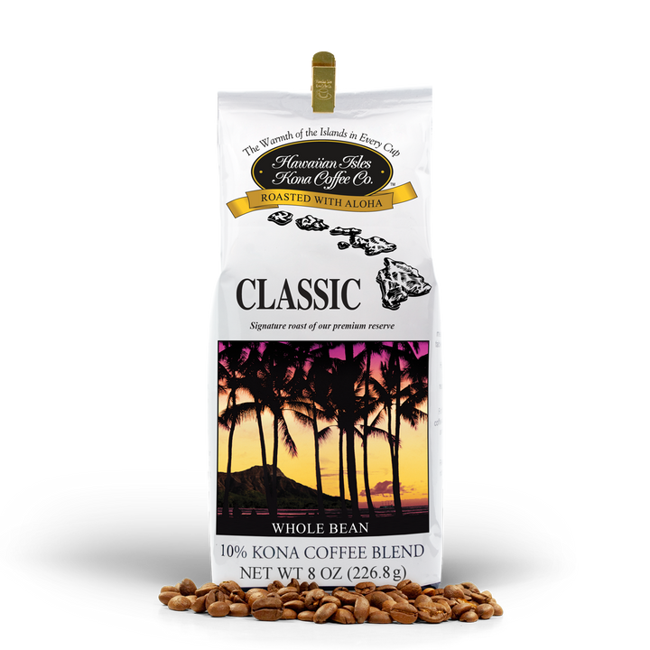 Kona Classic - Whole Bean - 8 oz - Hawaiian Isles Kona Coffee