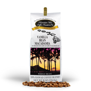 Vanilla Bean Macadamia - Whole bean - 8 oz - Hawaiian Isles Kona Coffee