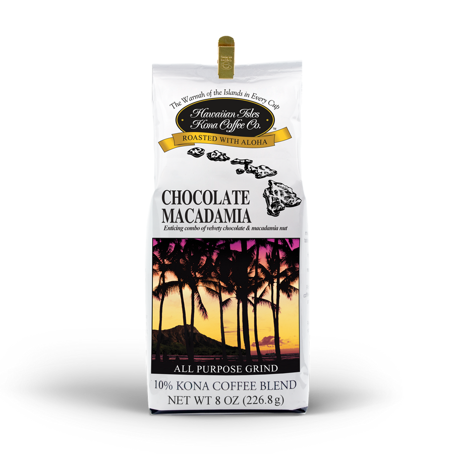 Kona Chocolate Macadamia Nut - Ground - 8 oz