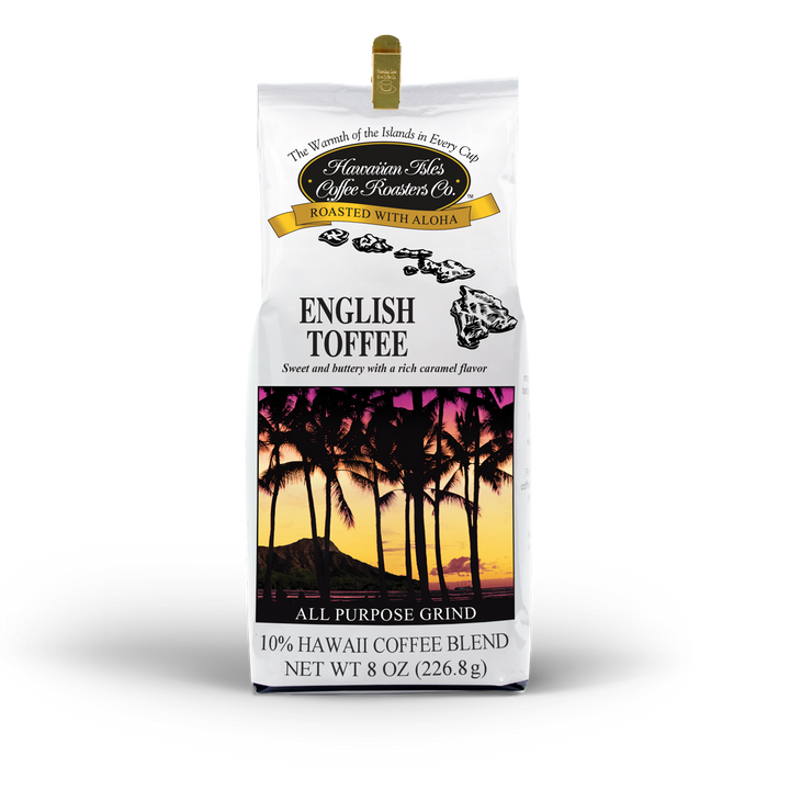 English Toffee - Ground - 8 oz - Hawaiian Isles Kona Coffee