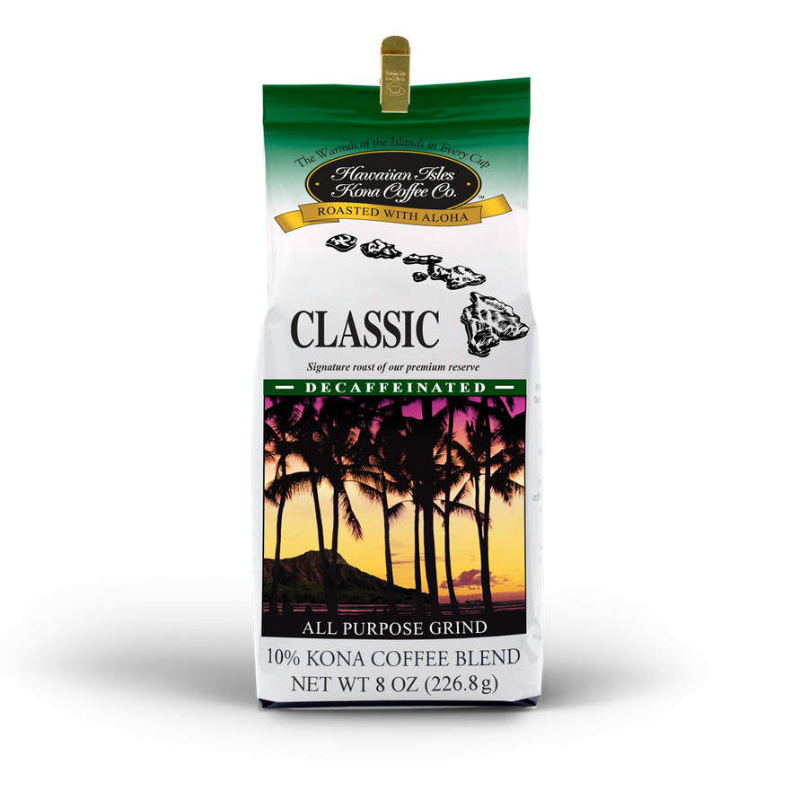 Kona Classic - Decaf - Ground - 8 oz - Hawaiian Isles Kona Coffee