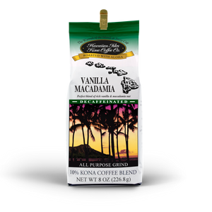 Kona Vanilla Macadamia Nut - Decaf - Ground - 8 oz