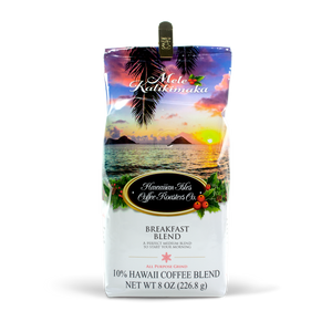 Holiday Edition - Breakfast Blend - Ground - 8 oz - Hawaiian Isles Kona Coffee