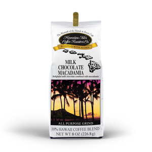 Milk Chocolate Macadamia Nut - Ground - 8 oz - Hawaiian Isles Kona Coffee