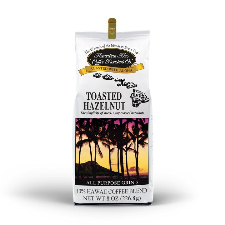 Toasted Hazelnut Coffee - Ground - 8 oz - Hawaiian Isles Kona Coffee