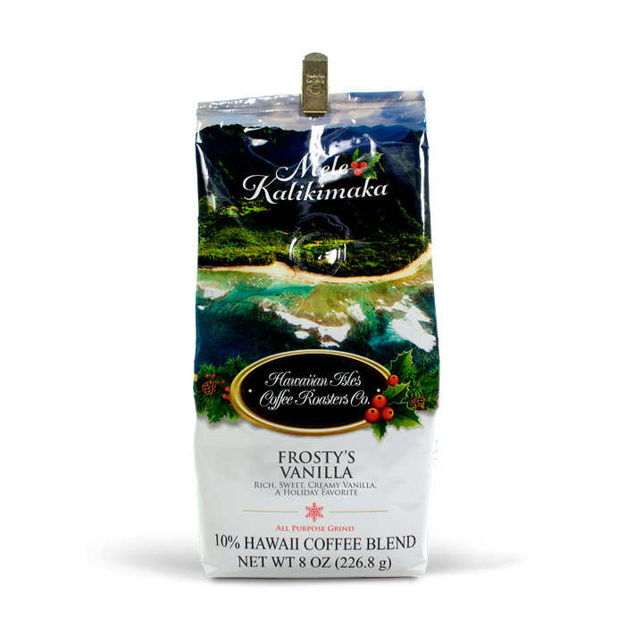 Holiday Edition - Frosty's Vanilla - Ground - 8 oz - Hawaiian Isles Kona Coffee