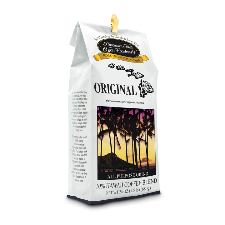 Original - Ground - 24 oz - Hawaiian Isles Kona Coffee