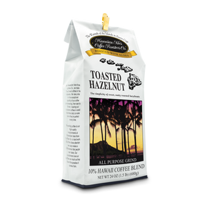 Toasted Hazelnut - Ground - 24 oz - Hawaiian Isles Kona Coffee