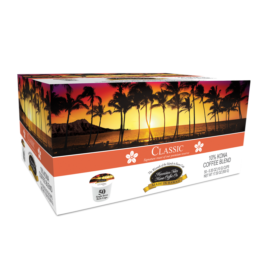 Kona Classic - Single Serve Cup - 50 Pack - Hawaiian Isles Kona Coffee