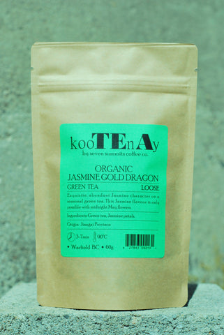 Organic Jasmine Gold Dragon – 60g Loose
