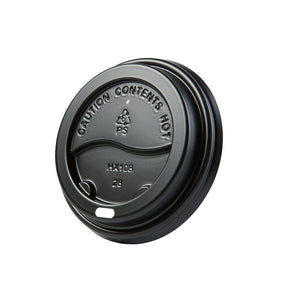 Coffee cup lid with hole Ø 90mm, black