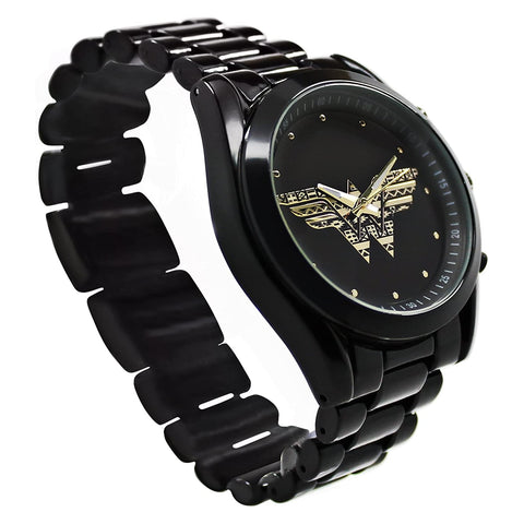 Reloj WW Princesa Themyscira color negro - wonderwomanstore.com.mx