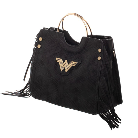 Bolso de Mano Negro Wonder Woman - batman.com.mx