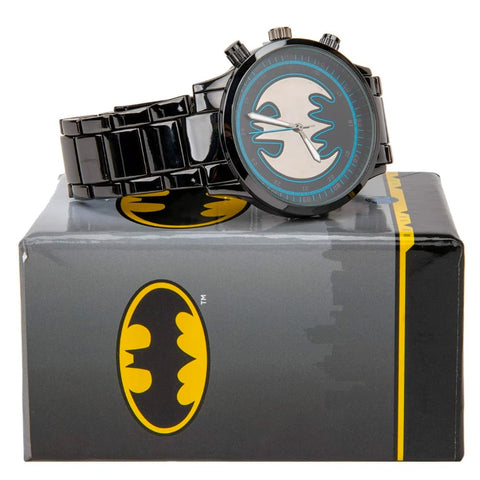 Reloj Batman logo Batiseñal Smoke Metal - batman.com.mx