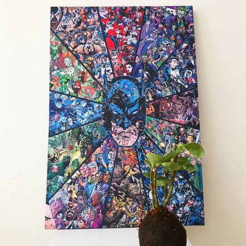Cuadro Batman vs los Villanos - Tela Canvas - Batman.com.mx