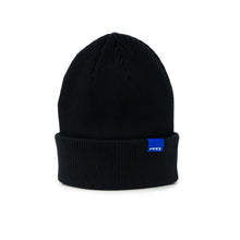 Load image into Gallery viewer, WAVE black rib beanie