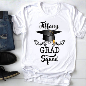 Custom personalized name graduation T Shirts funny gifts for senior, family, best friends & graduated class - Grad Squad Congrats - Personalizedwitch