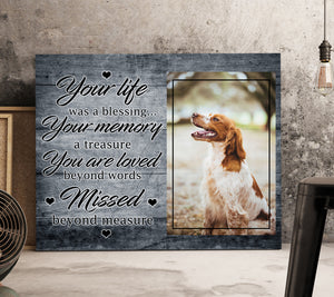 Custom personalized dog memorial photo to canvas Pet remembrance print wall art gift idea for dog mom dad pet lovers with pictures on - Dogs You Are Loved Beyond Words - PersonalizedWitch