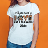 Custom Personalized Photo Dog Mom Dad T Shirts Printing Gift for dog owners lovers with pictures on Mother of Dogs - All You Need Is Love And Dog - Personalizedwitch