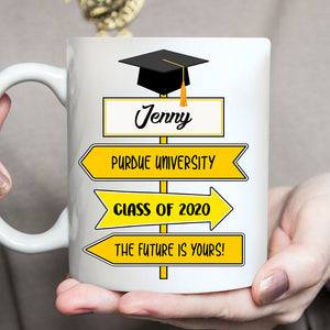 Custom personalized name graduation coffee mugs funny gifts for senior, family, best friends & graduated class - Path To Success Graduation Day - PersonalizedWitch