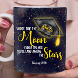 Shoot For The Moon Graduation Day - Personalized custom mug Graduation gift mug Mother gift idea family gift