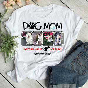 Custom Personalized Photo Dog Mom T Shirts Printing Gift for dog owners lovers with pictures on Mother of Dogs - Dog Mom 2020 - PersonalizedWitch