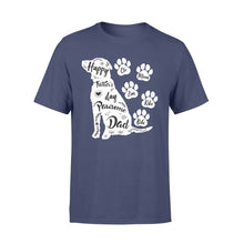 Load image into Gallery viewer, Custom Personalized Dog Dad T Shirts Gift for humans dog owners lovers - Happy Father's Day Pawsome Dad - PersonalizedWitch
