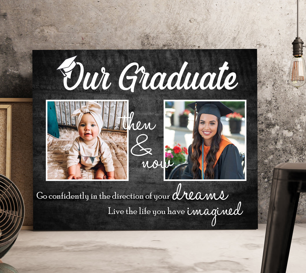 Our Graduate The And Now - Trending custom personalized canvas, graduation mug family gift class of 2020