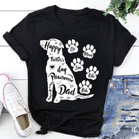 Custom Personalized Dog Dad T Shirts Gift for humans dog owners lovers - Happy Father's Day Pawsome Dad - PersonalizedWitch