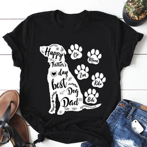 Custom Personalized Dog Dad T Shirts Gift for dog owners lovers Father of Dogs - Happy Father's Day Best Dog Dad - PersonalizedWitch