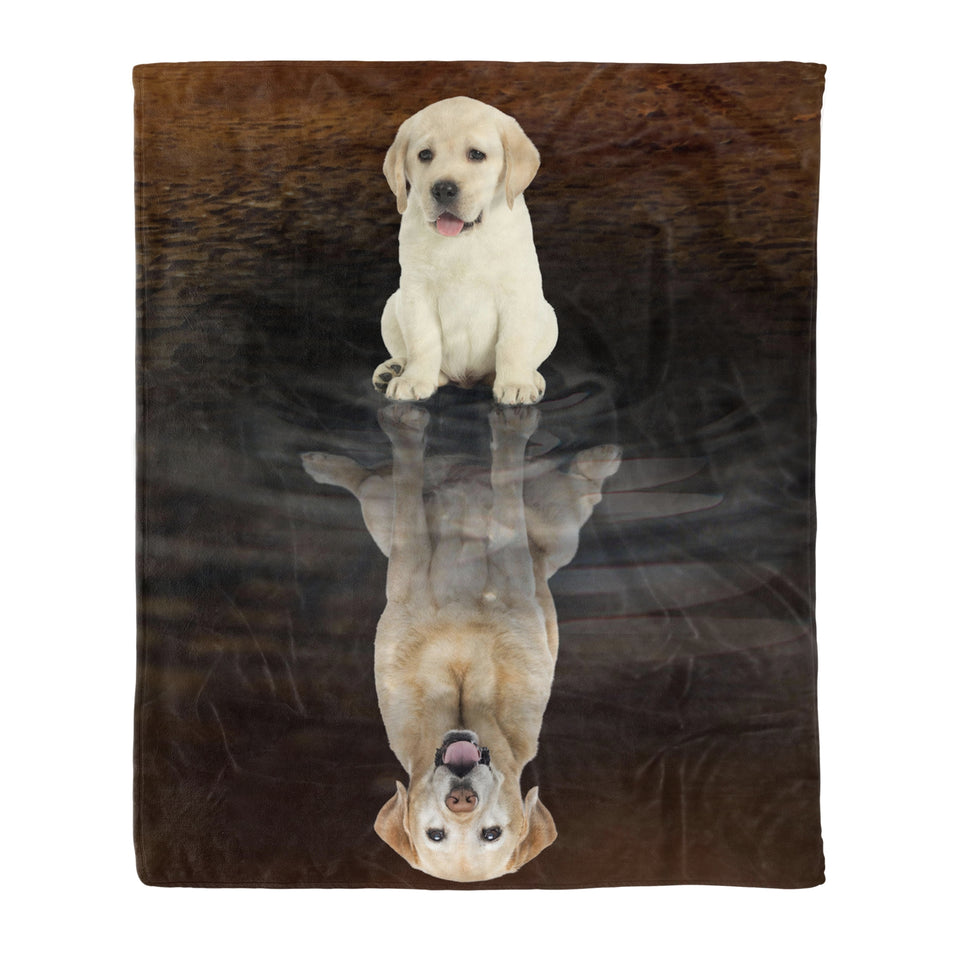 Labrador Retriever Dreaming Fleece Blanket, Unique Gifts For Dog Lovers, Best Friend, Parents