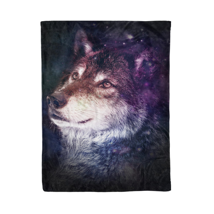Fleece Blanket Mother's day Father's day unique gift ideas for mom & dad from daughter & son kids, meaningful birthday presents -  Beautiful Wolf - Wolf fleece blanket wolf lover gift idea