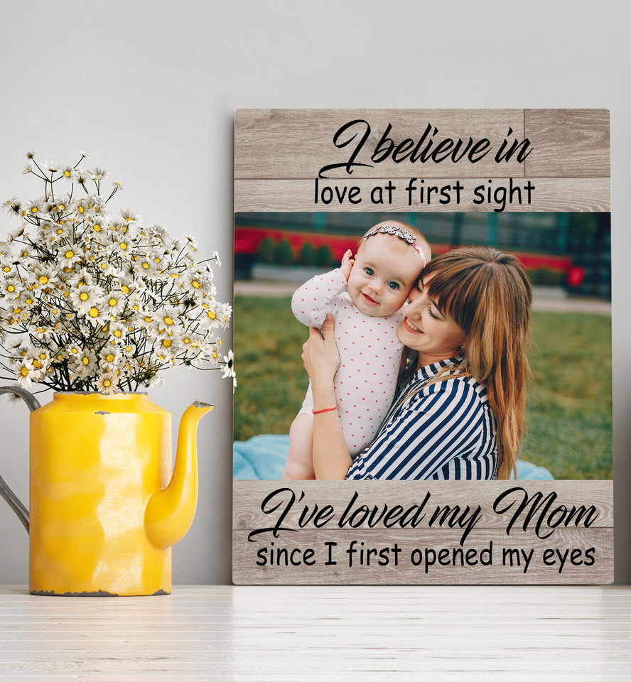 Custom personalized photo to canvas prints wall art Mother's day gifts idea, pictures on canvas Christmas, birthday presents for daughter & son - Mom My First Love - PersonalizedWitch