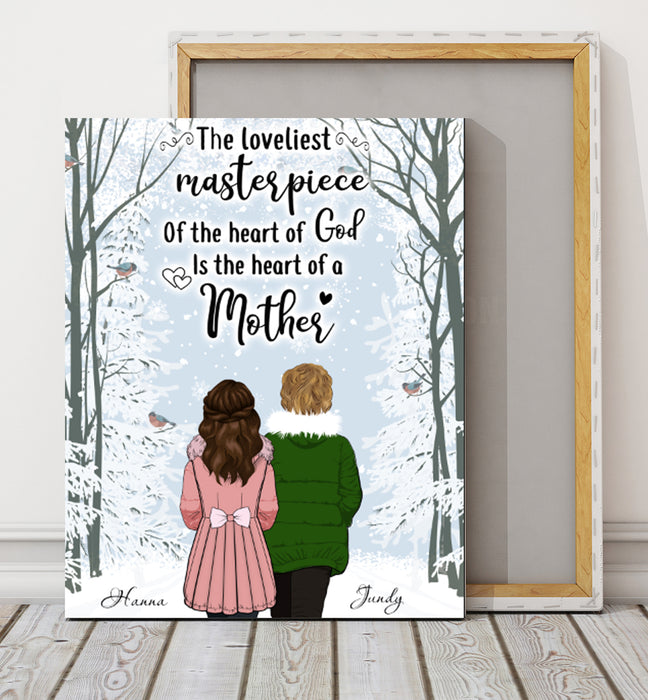 Custom personalized canvas prints wall art Mother's day gifts idea, Christmas, birthday presents for mom from daughter - The Heart of Mother - PersonalizedWitch