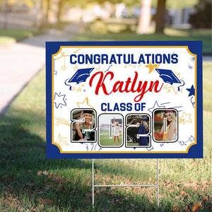Personalized Congratulations Class Of 2020 Yard Sign - Trending custom personalized sign, graduation birthday sign family gift