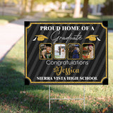 Personalized Proud Home Of A Graduate 2020 - Trending custom personalized sign, graduation birthday sign family gift