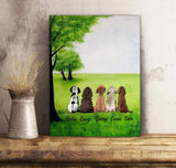 Custom personalized dog memorial canvas & coffee mugs Pet remembrance print gift idea for dog mom dad pet lovers - Waiting for you - PersonalizedWitch